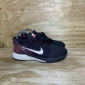 Nike Lunarglide 7 Running Shoes Womens Size 7 Black Blue Orange 747356-005